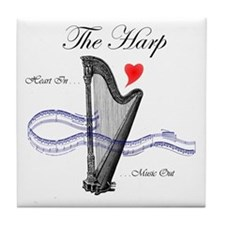 'The Harp' Tile Coaster