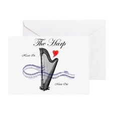 'The Harp' Greeting Card
