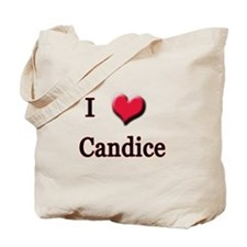 I Love (Heart) Candice Tote Bag