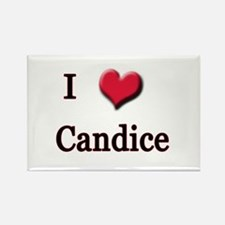 I Love (Heart) Candice Rectangle Magnet