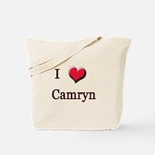 I Love (Heart) Camryn Tote Bag