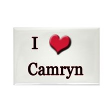 I Love (Heart) Camryn Rectangle Magnet