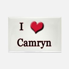 I Love (Heart) Camryn Rectangle Magnet
