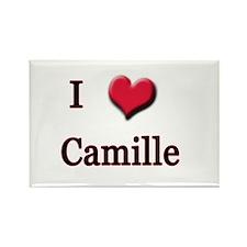 I Love (Heart) Camille Rectangle Magnet