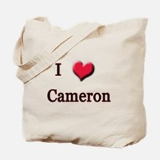 I Love (Heart) Cameron Tote Bag