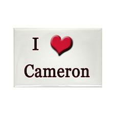 I Love (Heart) Cameron Rectangle Magnet