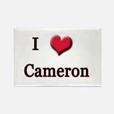 I Love (Heart) Cameron Rectangle Magnet