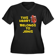 This Heart: Janis (A) Women's Plus Size V-Neck Dar