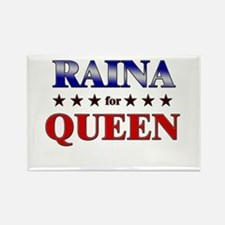 RAINA for queen Rectangle Magnet