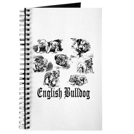 Vintage Bulldog Sketches Journal