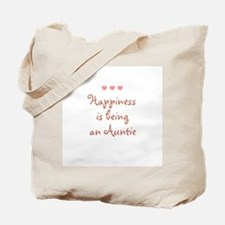 Happiness is being an Auntie Tote Bag