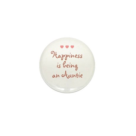 Happiness is being an Auntie Mini Button (10 pack)