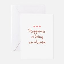 Happiness is being an Auntie Greeting Cards (Pk of