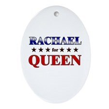 RACHAEL for queen Oval Ornament
