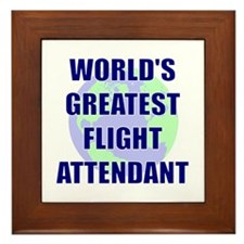 World's Greatest Flight Atten Framed Tile