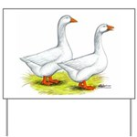 Embden Geese Yard Sign