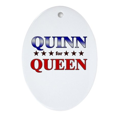 QUINN for queen Oval Ornament