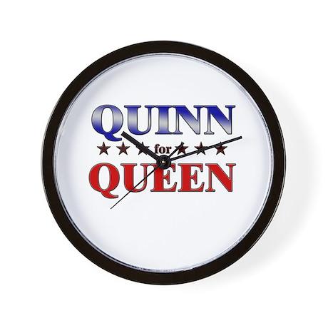 QUINN for queen Wall Clock