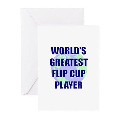 World's Greatest Flip Cup Pla Greeting Cards (Pk o