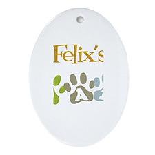 Felix's Dad Oval Ornament