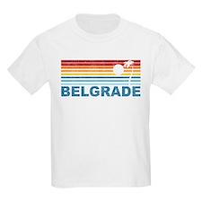 Retro Palm Tree Belgrade T-Shirt