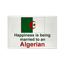Happily Married To Algerian Rectangle Magnet