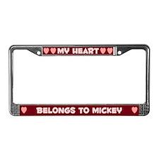 My Heart: Mickey (#007) License Plate Frame