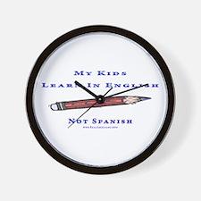 Teach In Englesh t shirts Wall Clock
