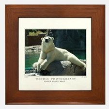 Proud Polar Bear Framed Tile