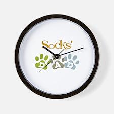 Socks's Dad Wall Clock