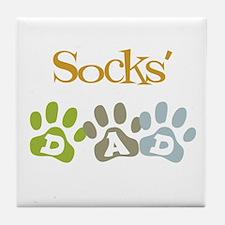 Socks's Dad Tile Coaster