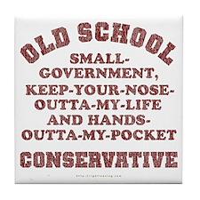 Old School Conservative Tile Coaster