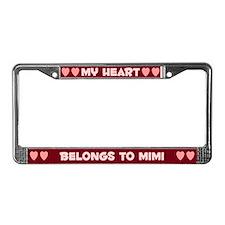 My Heart: Mimi (#007) License Plate Frame