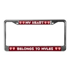 My Heart: Myles (#007) License Plate Frame