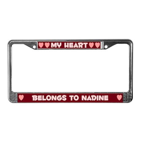 My Heart: Nadine (#007) License Plate Frame