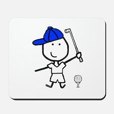Boy & Golf Mousepad