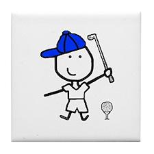 Boy & Golf Tile Coaster