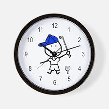 Boy & Golf Wall Clock