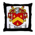 Abbott Family Crest Throw Pillow