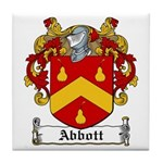Abbott Family Crest Tile Coaster
