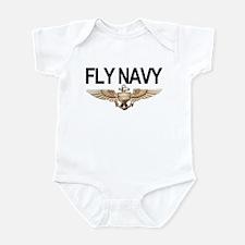 Fly Navy Wings Infant Bodysuit