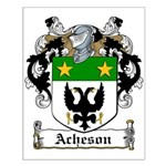 Acheson Family Crest Small Poster