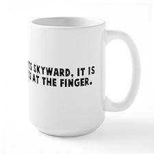 When someone points skyward i Mug