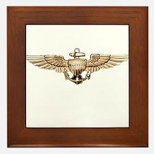 Wings of Gold Framed Tile