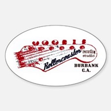 Rollercoaster Recording Studio Sticker (Oval)