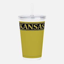 Kansas License Plate Acrylic Double-wall Tumbler