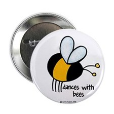 "dances with bees 2.25"" Button (10 pack)"
