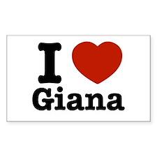 I love Giana Rectangle Decal