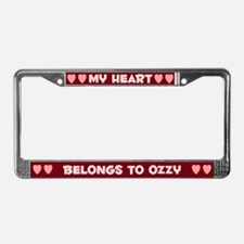 My Heart: Ozzy (#007) License Plate Frame