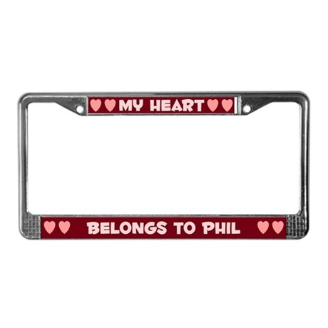 My Heart: Phil (#007) License Plate Frame